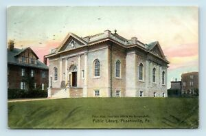 Phoenixville-PA-RARE-EARLY-1900s-VIEW-OF-PUBLIC-LIBRARY-POSTCARD-S4