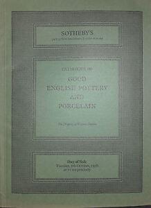 1976 Catalogue Di Vendita SOTHEBY'S Good English Ceramica E Porcellana