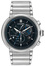 Citizen Eco-Drive Men's Proximity Bluetooth Silver-Tone 46mm Watch BZ1000-54E
