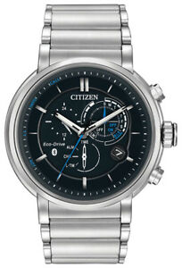 Citizen-Eco-Drive-Men-039-s-BZ1000-54E-Proximity-Bluetooth-Silver-Tone-46mm-Watch