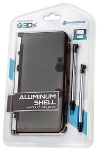 NEW-GRAY-Aluminum-case-with-2-Retractable-Stylus-Pens-for-the-OLD-Nintendo-3DS