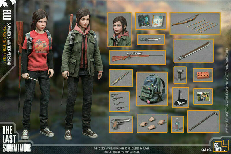 CCTOYS 1 6 The Last of Us Last Survivor ELLI Summer&Winnter Ver. Figure Clothes