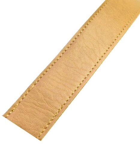 piel sintética bolsillos Cinturón Cinturón Banda 25mm Gold 4.90 euros//metros