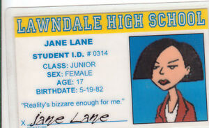 Jane-Lane-novelty-plastic-collectors-card-Drivers-License