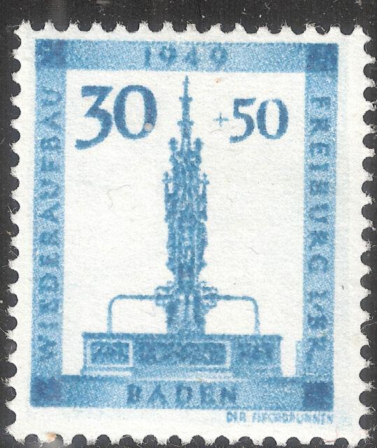 Baden Französische Zone MiNr 38 A - 41 A ** Varianten vom BPP geprüft Schlegel D