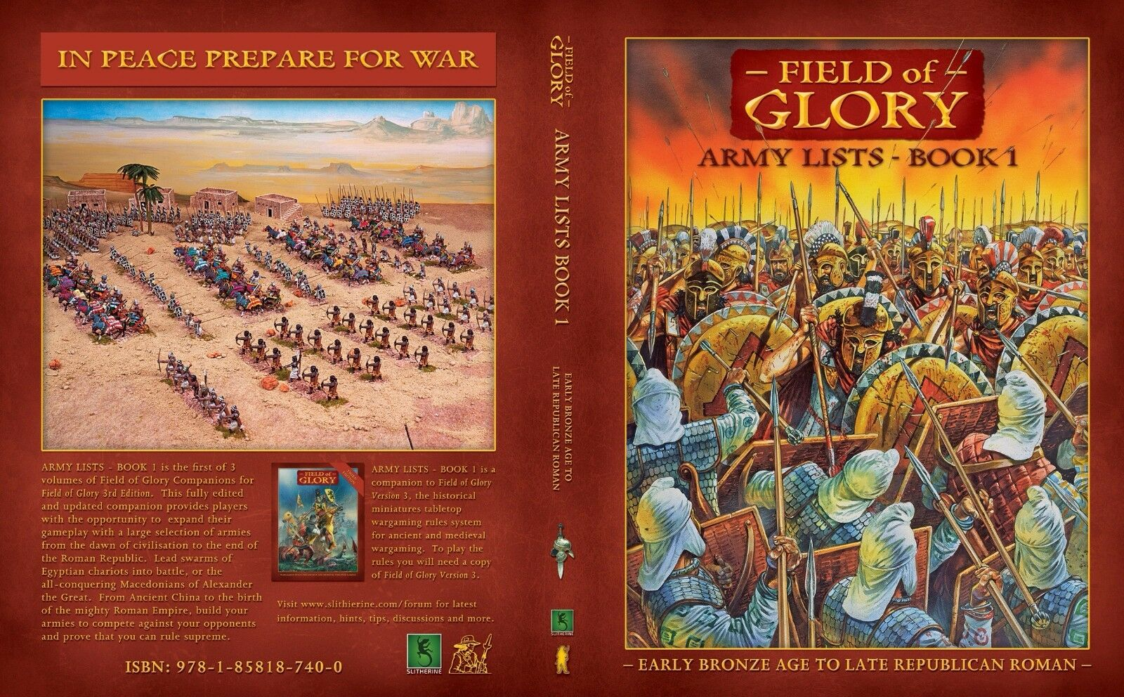 FIELD OF GLORY ARMY LISTS - BOOK 1  - PARTIZAN PRESS -  BRONZE AGE TO ROME