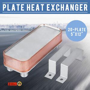 5-039-039-12-039-039-20-Plate-Heat-Exchanger-W-Brackets-1-034-MPT-316L-Stainless-Steel-Flexible