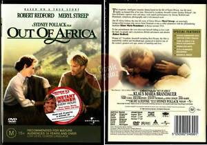 Out-of-Africa-NEW-DVD-Meryl-Streep-Robert-Redford-Region-4-Australia