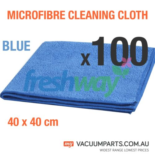 100x Multipurpose Microfibre Cleaning Cloth 300gsm 40x40cm Red Blue Yellow Green