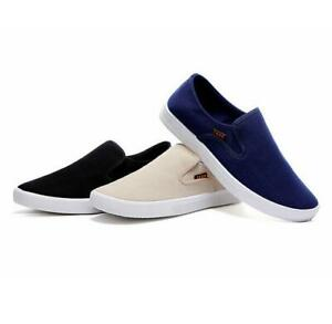 Mens-Slip-On-Loafers-Canvas-Boat-Shoes-Flats-Sneakers-Driving-Moccasins-Casual