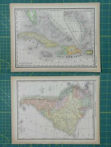 West indies south america vintage original 1894 rand mcnally world image is loading west indies south america vintage original 1894 rand gumiabroncs Image collections