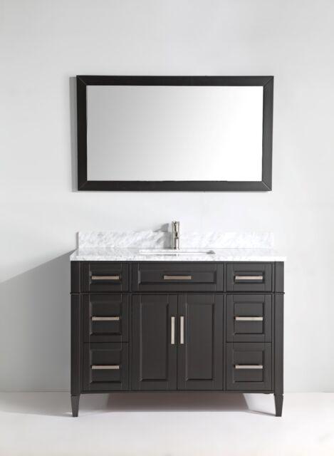 Vanity Art 60 Inch Single Sink Bathroom Vanity Set W Carrara