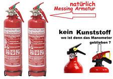 2 X Autofeuerlöscher Pulverlöscher Manometer Halterung ABC 1 kg Feuerlöscher KFZ