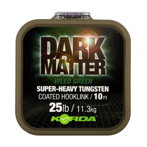 Korda Dark Matter Tungsten Coated Braid Weed Green 25 lb 10m Vorfachmaterial