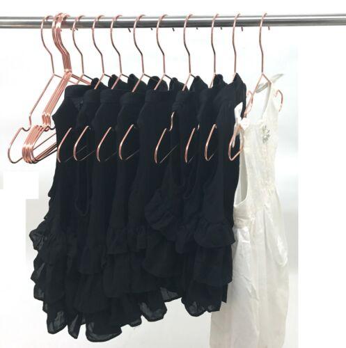 "30P 13/"" Baby Hangers Rose gold Copper Kids Clothes Coat Pants Metal Wire Hanger"