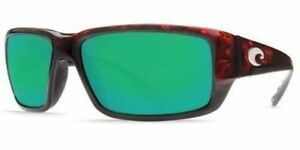 dccbbd9c71 Costa Del Mar Fantail Sunglasses Green Mirror Glass 580G Tortoise Frame