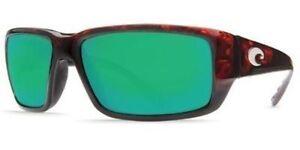 4a2df3a3b1 Costa Del Mar Fantail Sunglasses Green Mirror Glass 580G Tortoise Frame