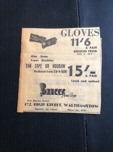 m1-5-ephemera-1949-Advert-Gloves-Bricks-Mans-Shop-Walthamstow-High-St