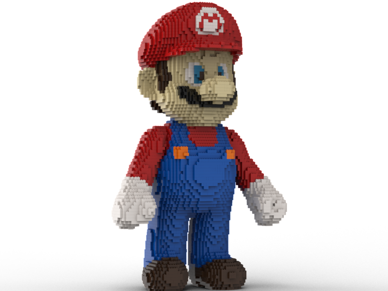 LEGO Super Mario statue building instruction