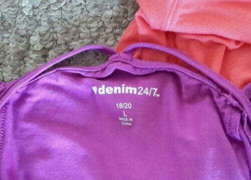 Women/'s Denim 24//7 Peep-Holes /& Bell Sleeves Blouse 18-20 Size LARGE NWOT