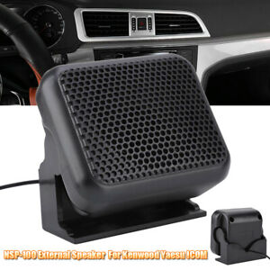 Mini-External-Speaker-8W-NSP-100-for-Kenwood-Yaesu-ICOM-Ham-Car-Radios-Black