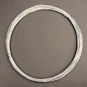 8 m Silberdraht (echt); 925 Silber; Strickdraht 0,5 mm (8,24€/m) | eBay