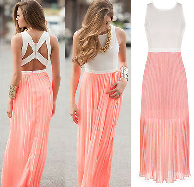 New Summer Women Sexy Boho Long Maxi Beach Cocktail Evening Party Dress Sundress
