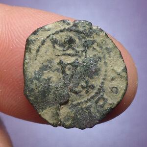 Pirate Treasure Cob Columbus Ferdinand /& Isabella Spanish Copper Coin 1469-1504