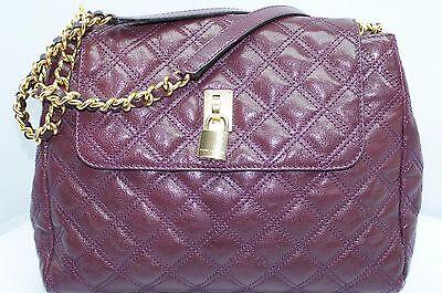 New Marc Jacobs The Sullivan Bag Satchel Hobo  Purple Tote Handbag Leather