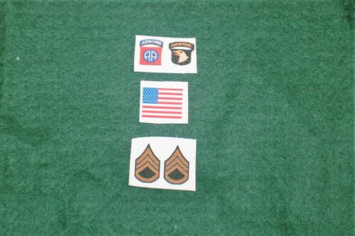 1//6 ci ww2 82nd 101st AIRBORNE INSIGNIA /& Bandiera Patch