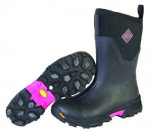 New Muck Womens Arctic Ice Mid Snow Winter Boots Pink