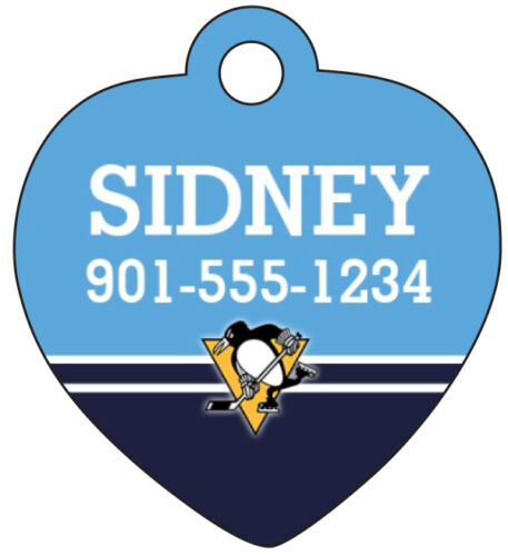 Pittsburgh Penguins Personalized Dog Tag Cat Tag Pet Id Tag w// Name /& Number