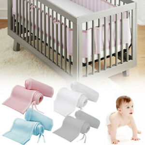 Baby Breathe Easy Breathable Air Mesh Crib Liner Wrap Nursery Cot Bed Bumper Set