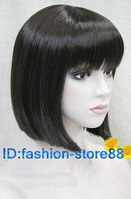 NEW Sexy Women's bob Fashion short Dark brown straight wig +wigs cap