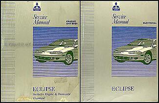 1996 Mitsubishi Eclipse Shop Manual 2 Volume Set Repair ...