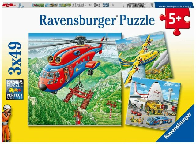 Brand New Ravensburger 3 x 49 Piece Above The Clouds Puzzle -  Childrens Jigsaw
