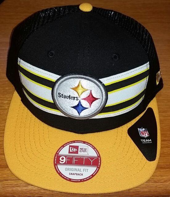 35377392 NWT MSRP $27 Pittsburgh Steelers Hat Cap NFL Team Yellow Black Football  Snapback