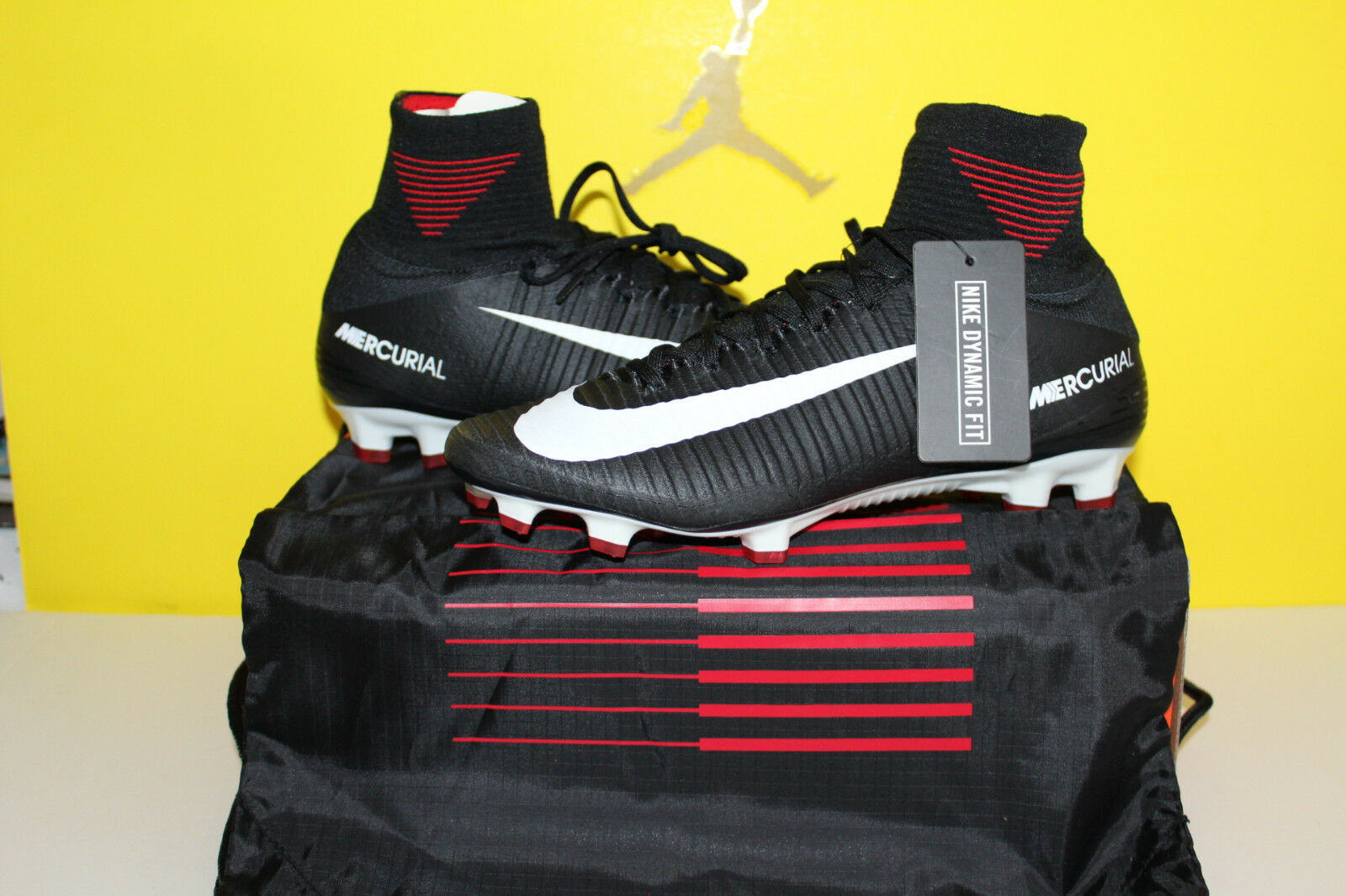 NIKE MERCURIAL SUPERFLY V DF FG BLACK-WHITE-DARK GREY-RED Price reduction Cheap and beautiful fashion