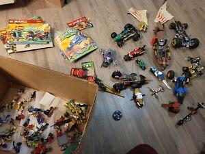 huge ninjago lot with books and figures..