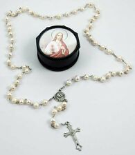 GENUINE PEARL ROSARY BEADS - 6mm Beads + Storage Case - Rapid Same Day Despatch!