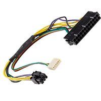 Aya 12-inch Atx Main 24-pin To 6-pin Pci-e Psu Power Adapter Cable 18awg Hp Z220