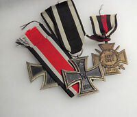 Germany: WW1 WW2 Iron Cross 2nd Class 1914 & 1939 and Hindenburg Cross Medals