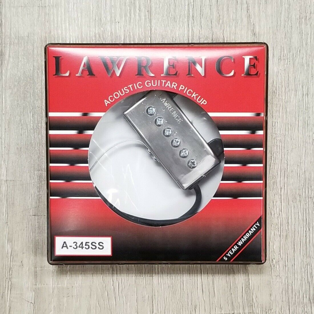 Bill Lawrence A-345 Pickup Adjustable Pole Pieces for Acoustic Flat-Top Guitar