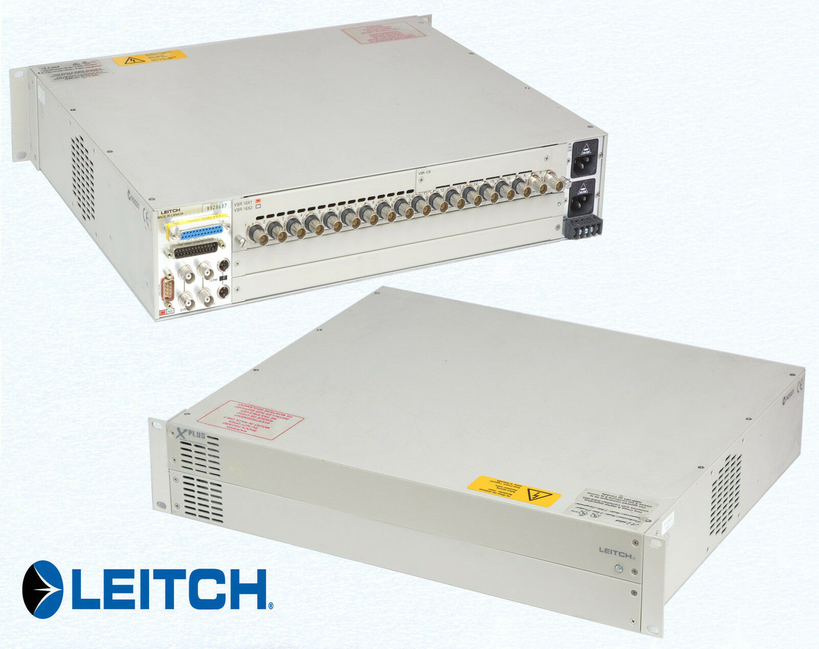 Leitch x plus modular routing switcher VSR16x1 studio equipment O620