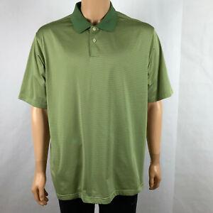 Adidas-Climacool-Mens-XL-Short-Sleeve-Green-Striped-Athletic-Polo-Golf-Shirt