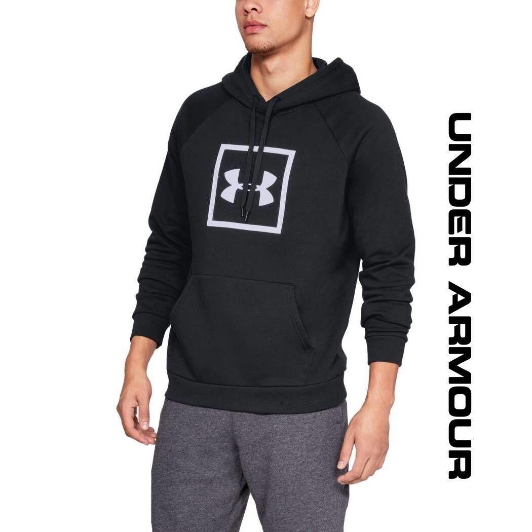 Under Armour  Herren Rival Fleece Logo Hoodie New UA ColdGear Pullover 132945-001