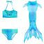 Indexbild 11 - Bademode Schwanz Badeanzug Meerjungfrau Bikini Mädchen Kinder Kostüm Schwimmen