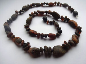 Raw Men/'s Baltic Amber Necklace