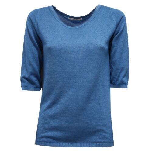 Donna Kangra Donna Maglione blu in cashmere Maglione chiaro 7357v seta 6qzFWHW