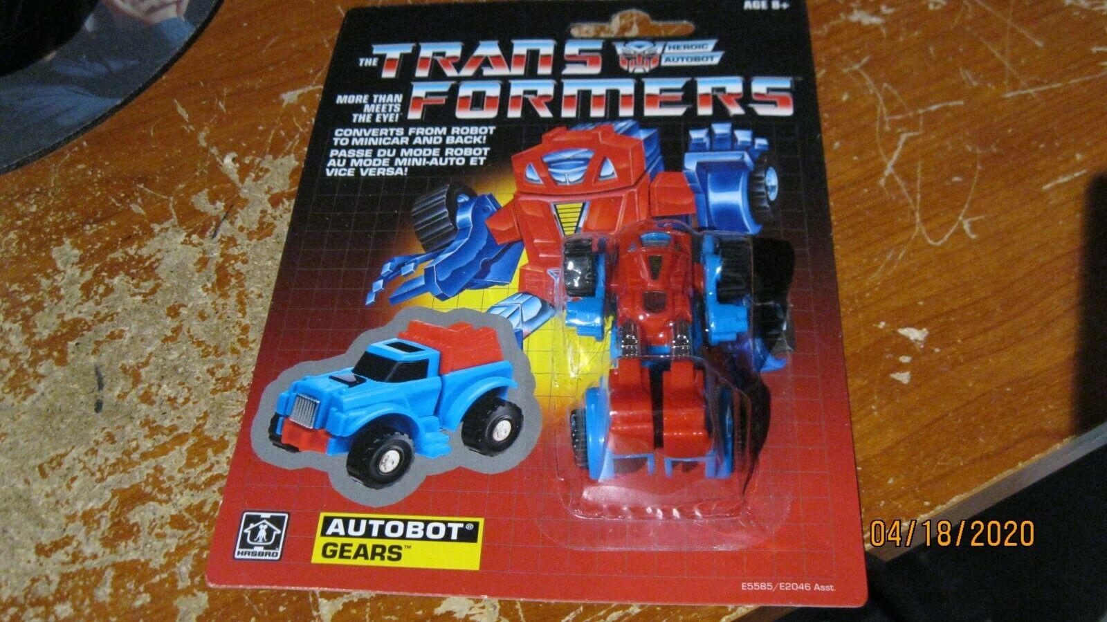 Transformers G1 Reedição-Autobot Engrenagens-Hasbro 2018